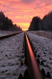 Spoorweg aan hemel Stock Afbeelding