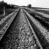 Spoorweg aan nergens royalty-vrije stock foto's
