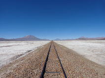 Spoorweg aan nergens Stock Fotografie