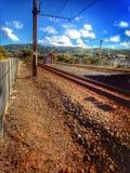Spoorweg aan nergens Stock Afbeeldingen