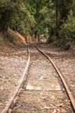 Spoorweg aan nergens Stock Foto