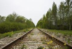 Spoorweg aan nergens in een oud dorp in Tallinn Estland Royalty-vrije Stock Fotografie