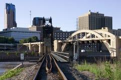 Spoorweg aan Saint Paul stock afbeelding