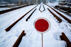 Spoorweg in aanbouw Royalty-vrije Stock Foto