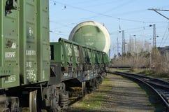 Spoorweg abstract beeld voor sommige illustraties Stock Foto's