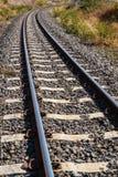 Spoorweg amid droogte Royalty-vrije Stock Foto's