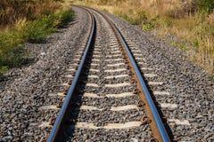 Spoorweg amid droogte Royalty-vrije Stock Afbeelding