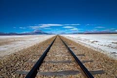 Spoorweg in Bolivië Stock Afbeeldingen