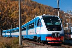 Spoorweg circum-Baikal stock afbeelding