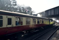 Spoorweg de Noord- van Norfolk bij Sheringham-post royalty-vrije stock afbeelding