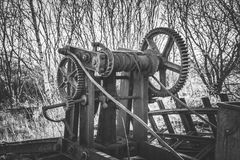 spoorweg die machine herstellen Royalty-vrije Stock Foto