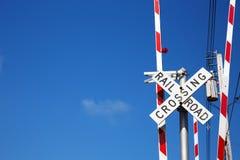 Spoorweg die Teken kruisen Royalty-vrije Stock Fotografie