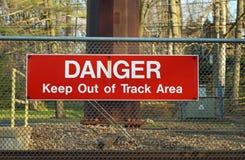 Spoorweg die Teken kruisen Stock Fotografie
