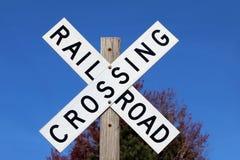 Spoorweg die Teken kruisen Royalty-vrije Stock Afbeelding