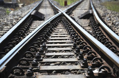 Spoorweg Echte Manier stock afbeelding