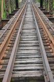Spoorweg en brug Royalty-vrije Stock Foto's