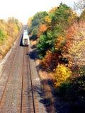 Spoorweg en trein Stock Afbeelding