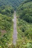 Spoorweg en tunnel Stock Foto