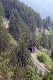 Spoorweg en tunnels Stock Afbeelding