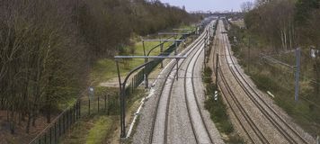 Spoorweg, Frankrijk royalty-vrije stock foto's