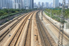 Spoorweg in guangzhou Royalty-vrije Stock Foto's