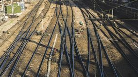 Spoorweg in heilige-Lazare Post, Parijs royalty-vrije stock foto's