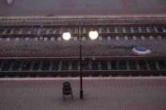 spoorweg het gaan Royalty-vrije Stock Foto