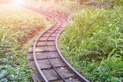 Spoorweg in het park Stock Afbeelding