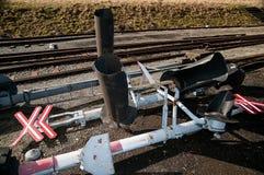 Spoorweg het signaleren stock afbeeldingen