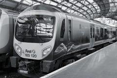 Spoorweg in het Verenigd Koninkrijk stock foto