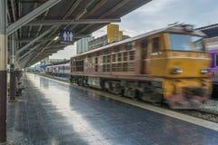 Spoorweg het voortbewegings reizen Stock Foto