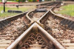 Spoorweg Kruising Stock Afbeelding