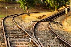 Spoorweg kruising royalty-vrije stock fotografie