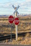 Spoorweg kruising Royalty-vrije Stock Foto