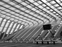 Spoorweg Luik-Guillemins royalty-vrije stock afbeelding