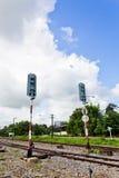 Spoorweg met de Lichten van het Alarm Royalty-vrije Stock Afbeelding