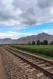 Spoorweg in Mongolië royalty-vrije stock foto