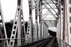 Spoorweg op brug Royalty-vrije Stock Afbeelding