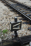 Spoorweg op post Royalty-vrije Stock Afbeeldingen