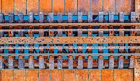 Spoorweg over water stock afbeeldingen
