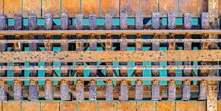 Spoorweg over water stock foto's