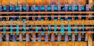 Spoorweg over water stock foto