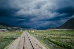 Spoorweg in Peru royalty-vrije stock fotografie