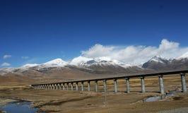 Spoorweg qinghai-Tibet Stock Afbeeldingen