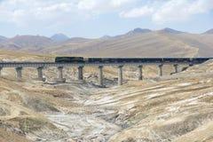Spoorweg qinghai-Tibet stock afbeelding