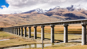 Spoorweg qinghai-Tibet royalty-vrije stock afbeelding