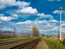Spoorweg in Roemenië Stock Afbeeldingen