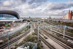 Spoorweg in stradford Londen Royalty-vrije Stock Fotografie