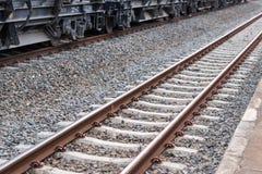 Spoorweg, treinspoor Royalty-vrije Stock Afbeeldingen