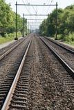 Spoorweg twee voor treinen royalty-vrije stock afbeelding